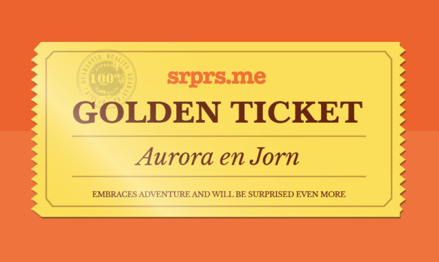 golden ticket actie srprs.me